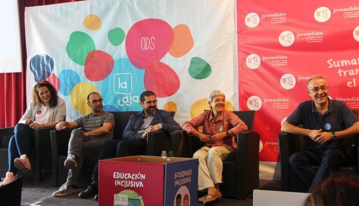 Foto de políticos que han participado en el encuentro La Caja